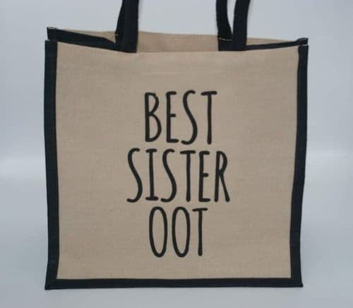 Juco Shopper Bag - Best Sister Oot