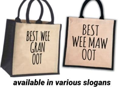 Juco Shopper Bag - Best Wee Mammy Oot