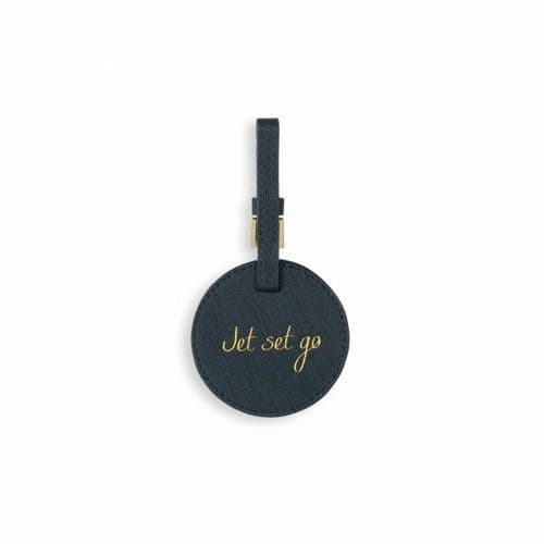 Katie Loxton - Navy Jet Set Go - Luggage Tag (B527)