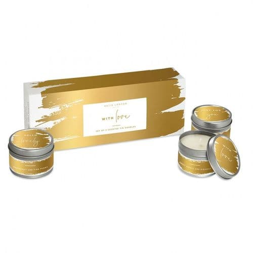 Katie Loxton - With Love - 3 Pack Candles