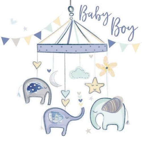 Katie Phythian  - Baby Boy Elephant Card