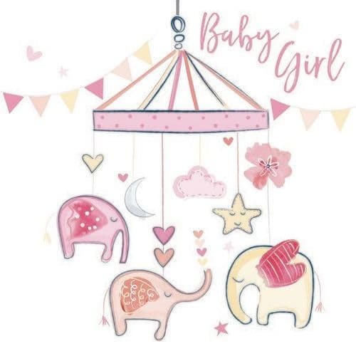 Katie Phythian  - Baby Girl Elephant Card