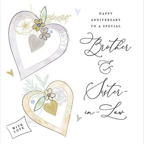 Katie Phythian - Happy Anniversary Brother & Sister In Law Card