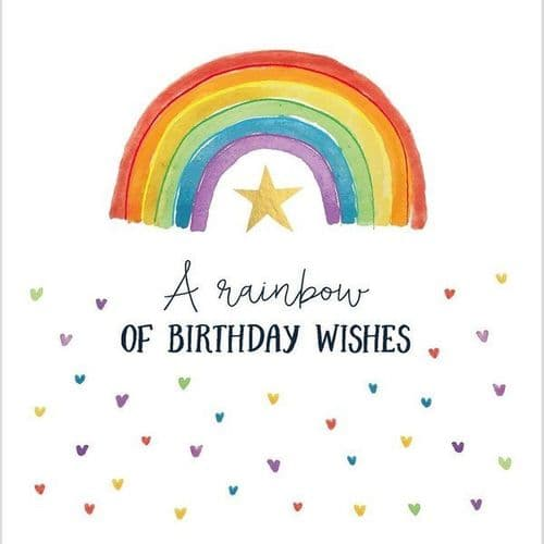 Katie Phythian - Rainbow Of Birthday Wishes - Card