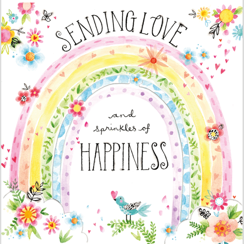 Katie Phythian - Sending Love Rainbow - Card