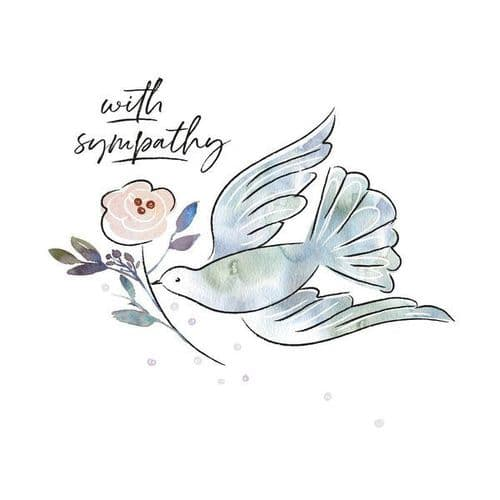 Katie Phythian - With Sympathy Dove - Card
