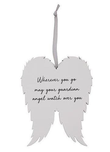 Langs - Angel Wing Plaque - Wherever You Go