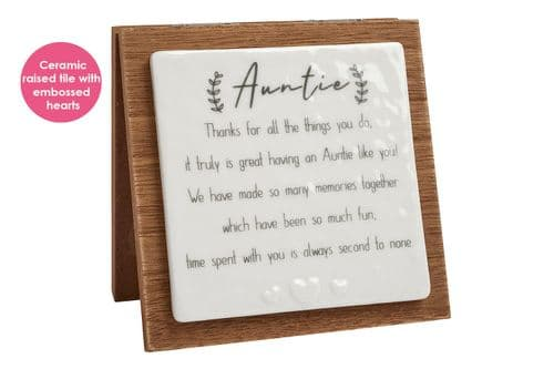 Langs - Auntie Forever Folding Plaque