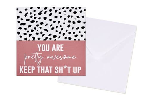 Langs - Awesome/Keep it up Card
