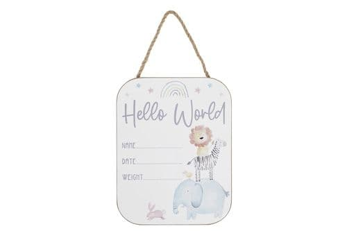 Langs - Baby Plaque - Hello World