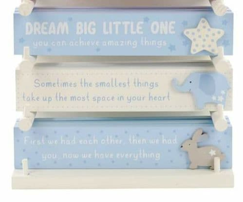 Langs - Baby Rectangle Plaque - Blue