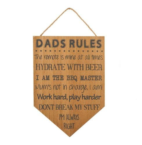 Langs - Dad's Rules Hanging Sign