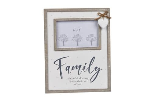 Langs -Family  Frame  with hanging heart