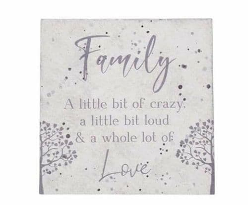 Langs -  Family Slate Coaster - Crazy Love