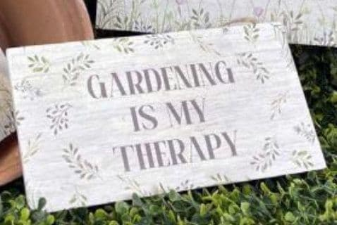 Langs Gardening Therapy Plaque