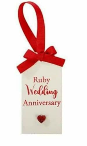 Langs - Glitter Tag - Ruby Wedding