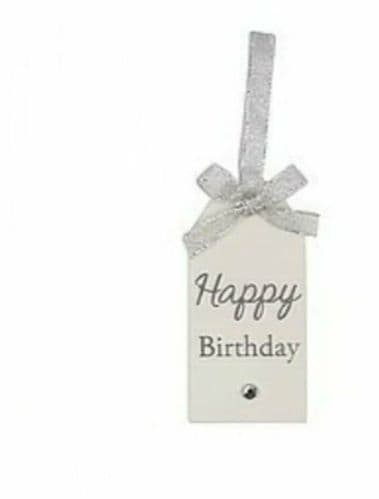 Langs - Glitter Wooden Tag - Happy Birthday