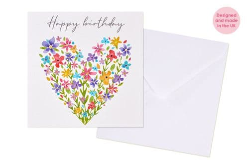 Langs - Happy Birthday Floral Heart Card