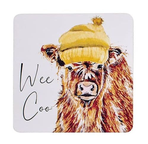 Langs - Highland Cow Coaster - Wee Coo