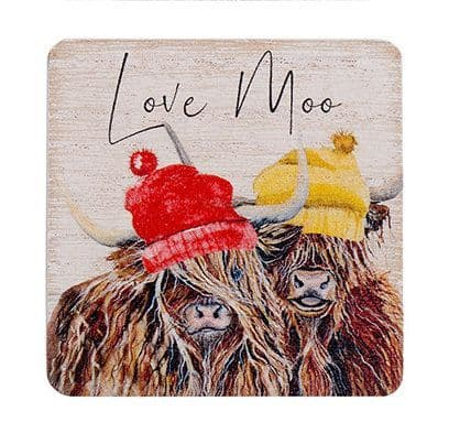 Langs - Highland Cow Magnet - Love Moo