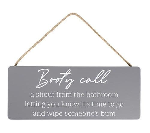 Langs - Humour Plaque - Booty Call