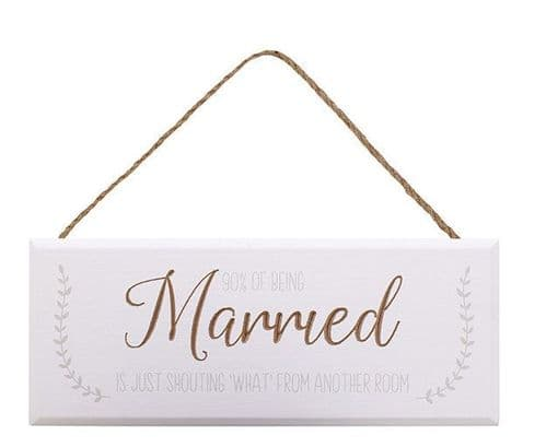Langs - Marriage Plaque - What