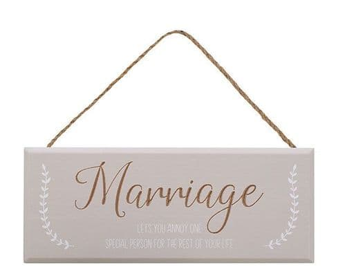 Langs - Marriage Sign - Annoy
