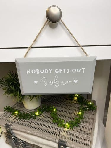 Langs - Nobody Gets Our Sober Plaque