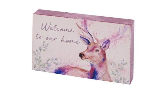 Langs - Painterly Stag Block - Welcome To Our Home