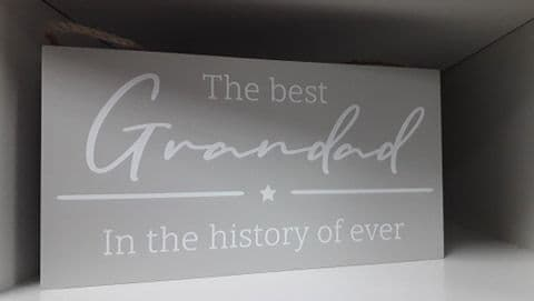 Langs - Plaque - The Best Grandad