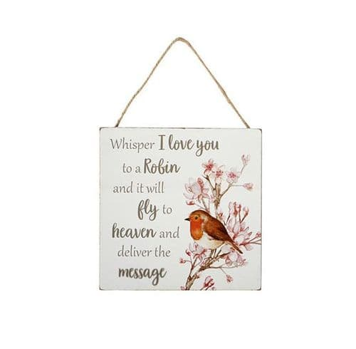 Langs - Robin Plaque - Whisper I Love You
