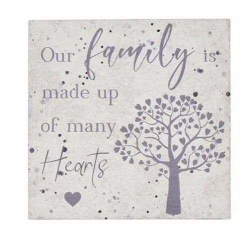 Langs - Slate Family Made Of Hearts Coaster
