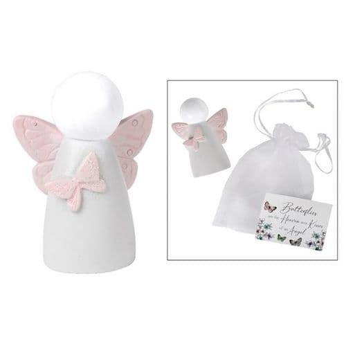 Langs - White Angel With Butterfly