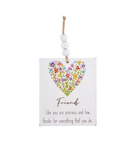 Langs - Wooden Hanging Dec Floral - Friends