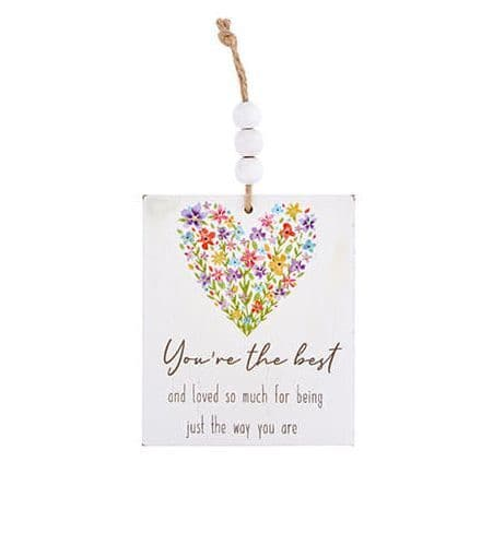 Langs - Wooden Hanging Floral Dec - You're The Best