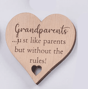 Langs - Wooden Heart Magnet - Grandparents
