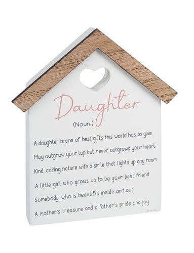 Langs - Wooden House Shaped Standing Dec - Daughter