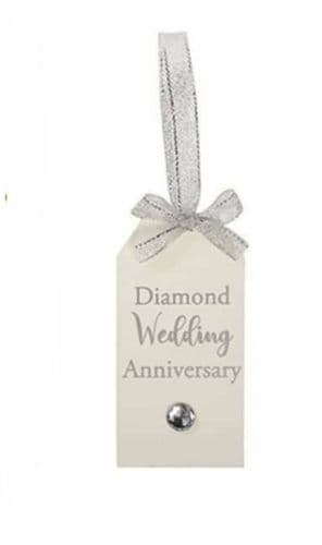 Langs - Wooden Tag  - Diamond Anniversary