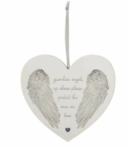 Langs- Wooden Wing Heart Hanger - Guardian Angel