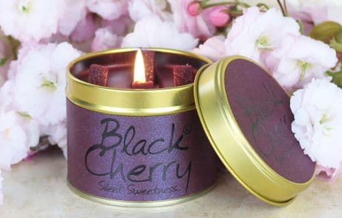 Lily-Flame Black Cherry scented candle