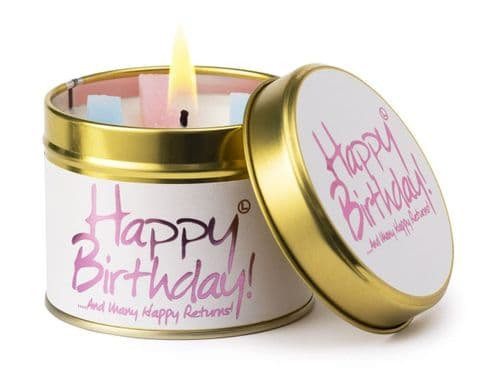 Lily-Flame Happy Birthday Candle