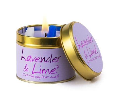 Lily-Flame Lavender & Lime Scented Candle
