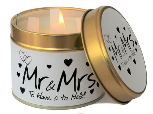 Lily-Flame - Mr & Mrs Scented Candle Tin