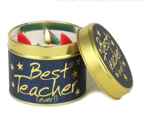 Lily-Flame Tin Candle - Best Teacher