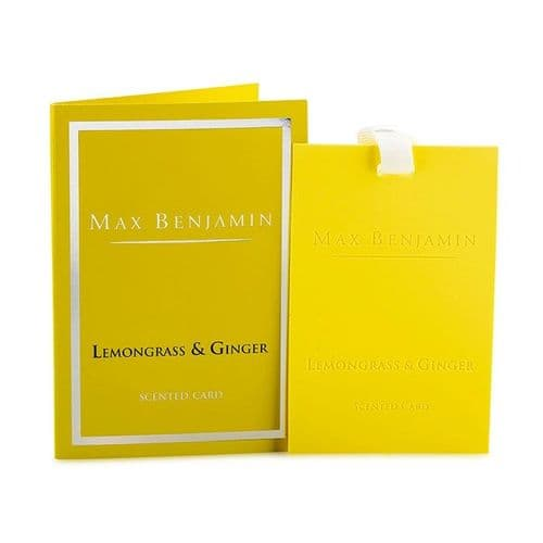 Max Benjamin  - Scented Card - Lemongrass and Ginger