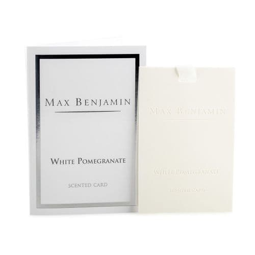 Max Benjamin - Scented Card - White Pomegranate