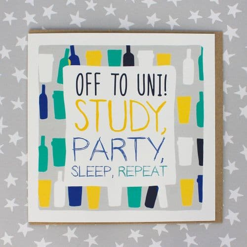Molly Mae - Off To Uni Study Party Repeat Card