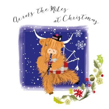 Pink Pig - Across The Miles Christmas - Card