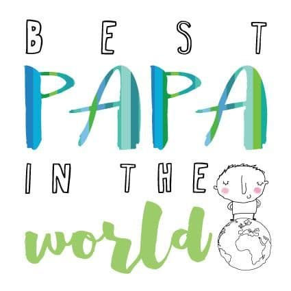 Pink Pig - Blokey - Best Papa In The World - Card