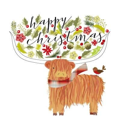 Pink Pig - Happy Christmas -Coo - Card